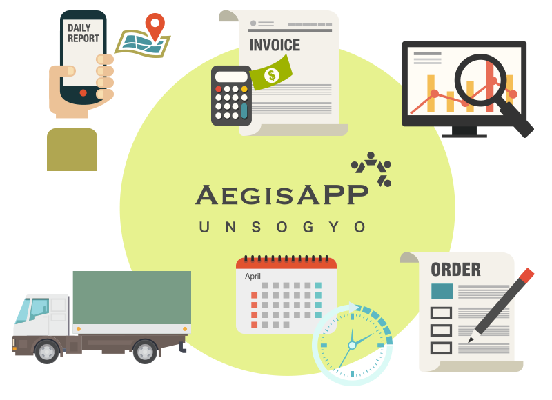 Aegis APP運送業:運行計画から配車、日報、 請求までワンストップで完了